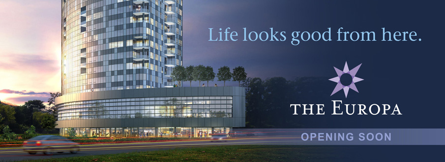 Life looks good from here. The Europa | Opening Fall 2014